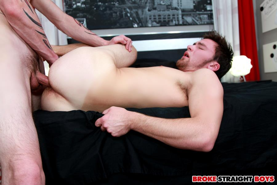 Broke straight boy bareback gay first