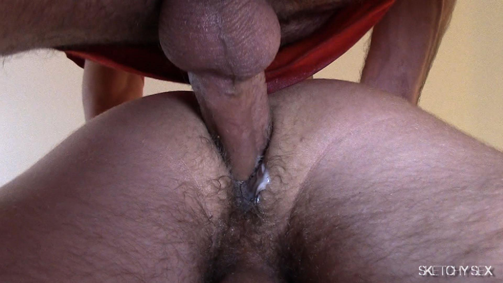 """Sketchy-Sex-Nate-Getting-Fucked-Bareback-By-A-10-Inch-Craigslist-Cock-Amateur-Gay-Porn-11 Taking A 10"""" Craigslist Cock Bareback While The Roommate Watches"""