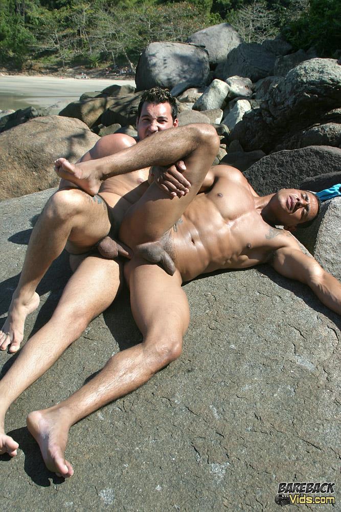 Bareback-Vids-Alber-Charles-and-Antony-Gimenez-Brazilian-Bareback-Sex-Video-13 Brazilian Beach Buddies Fucking Bareback At The Nude Beach