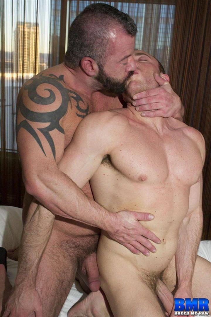 Breed-Me-Raw-Adam-Ryker-and-Jacob-Durham-Bareback-Daddy-Sex-03 Hairy Muscle Daddy Adam Ryker Breeds Jacob Durham